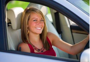 Female teenagers are more likely to get into car accidents if there is a boy in the car.