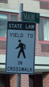 pedestrian sign betch